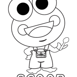 268x268 Sweet Frog Coloring Page Kids Drawing And Coloring Pages