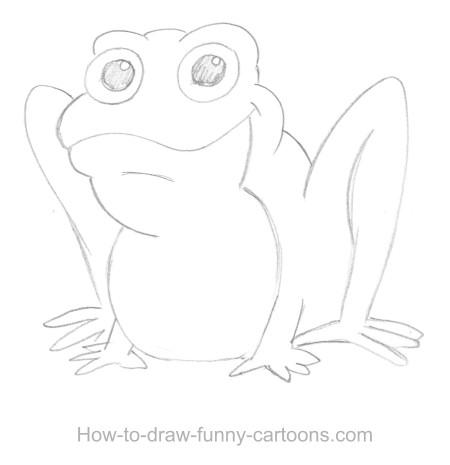 450x465 Frog Drawings (Sketching + Vector)