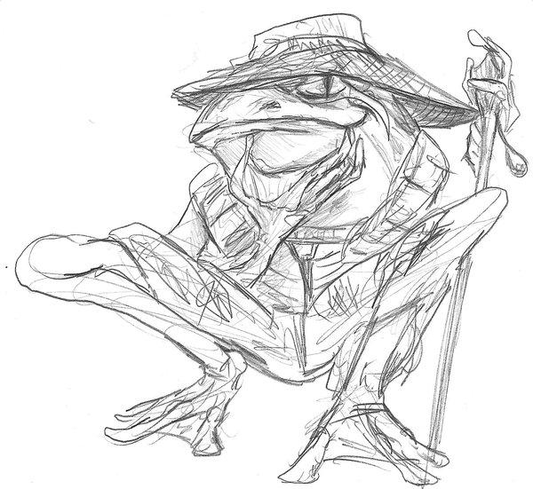 600x551 Frog Sketch By Soulstarisborn