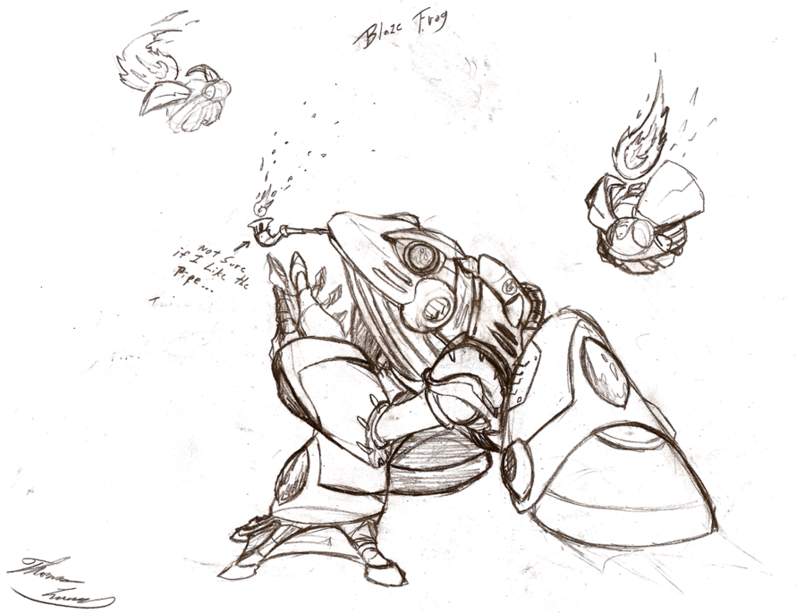 900x686 Blaze Frog (Rough Sketch) By Marxforever