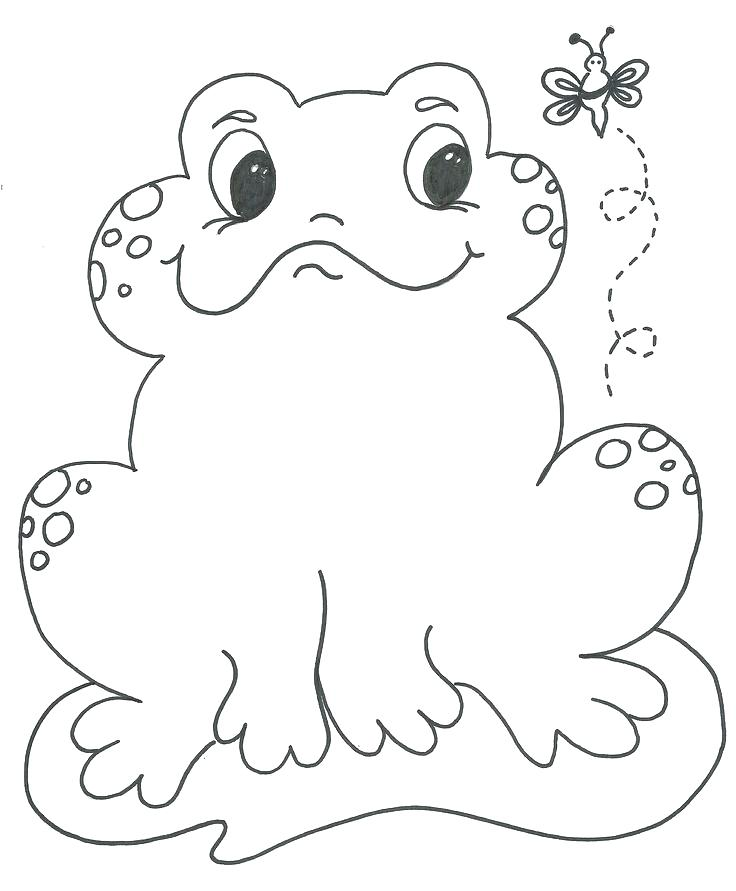 736x891 Coloring Pages Draw A Frog For Kids