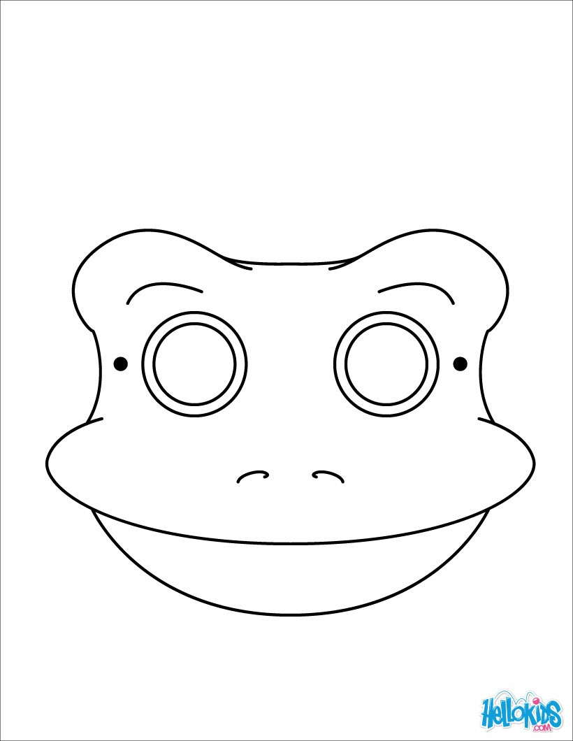 820x1060 Frog Mask Coloring Pages