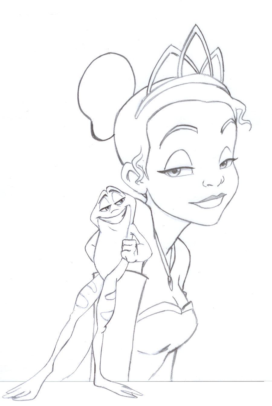 900x1344 The Princess And The Frog By Ericorion