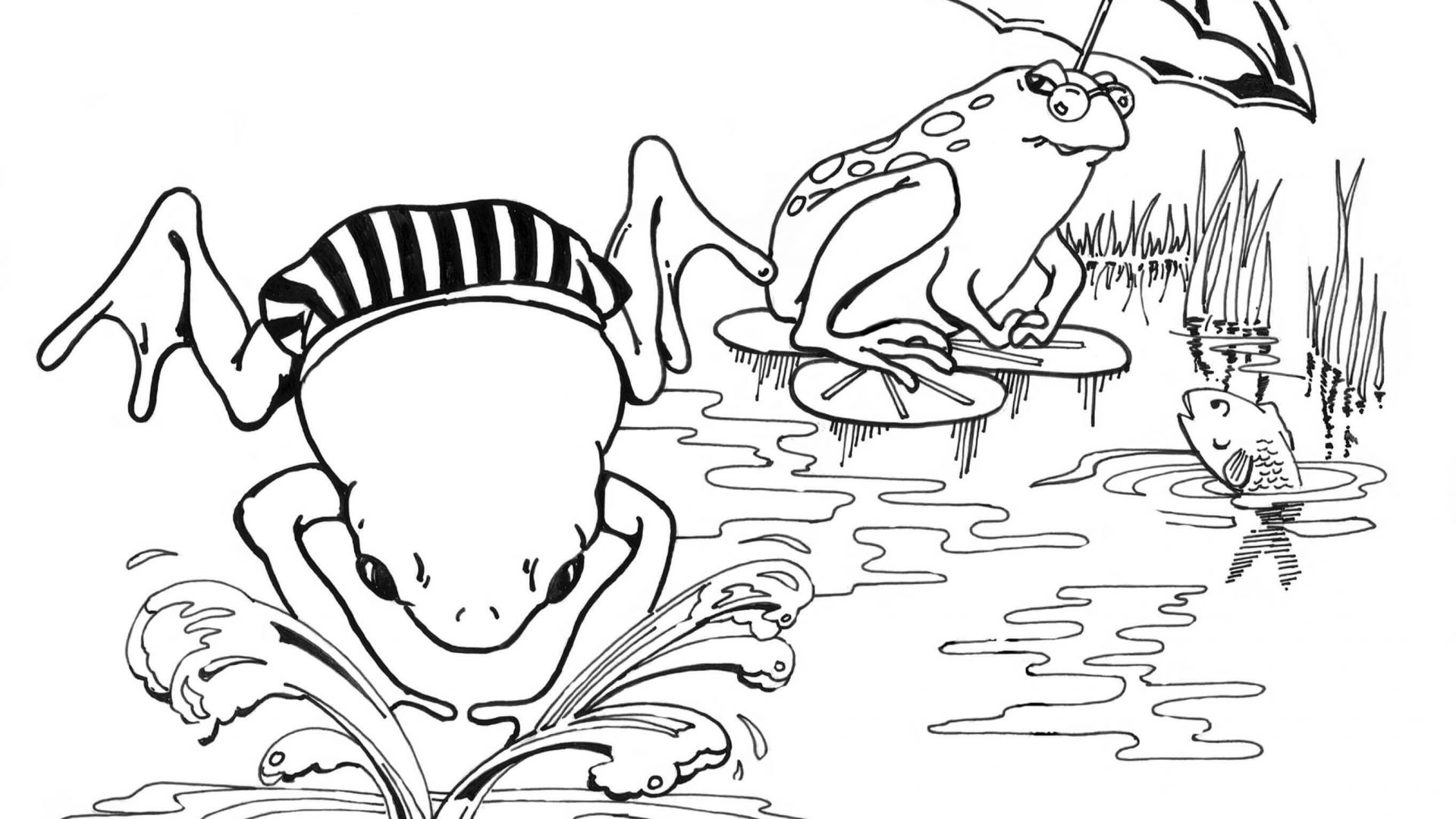 1920x1080 Free Printable Frog Coloring Pages For Kids Life Cycle Of Animals