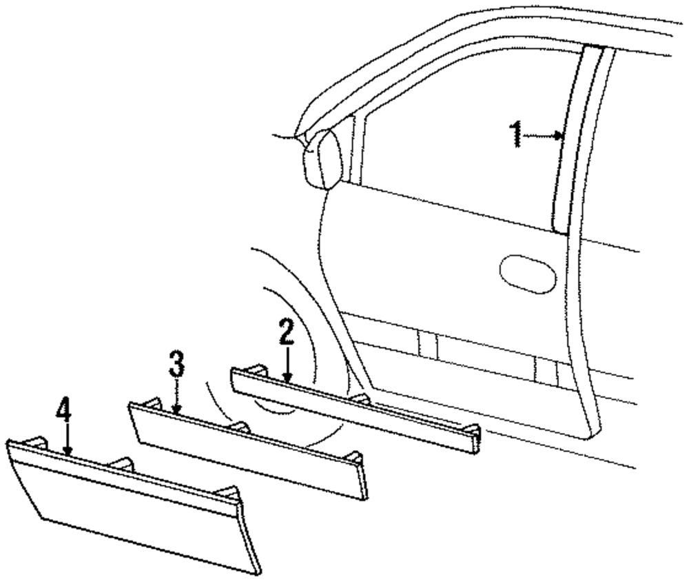 1000x850 Chrysler Oem Front Door Cladding Left Pk07ss8 Ebay
