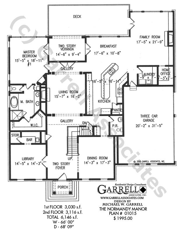 614x806 Normandy Manor House Plan House Plans By Garrell Associates, Inc.