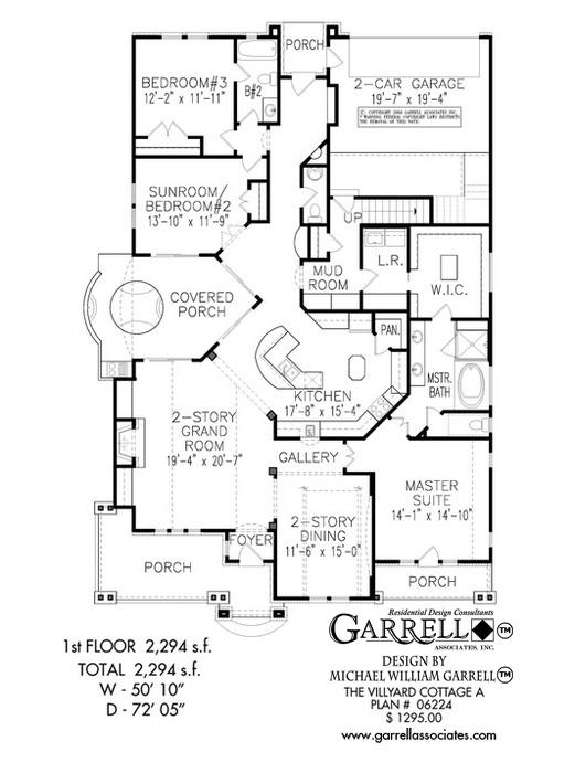 521x700 Villyard Cottage A House Plan House Plans By Garrell Associates