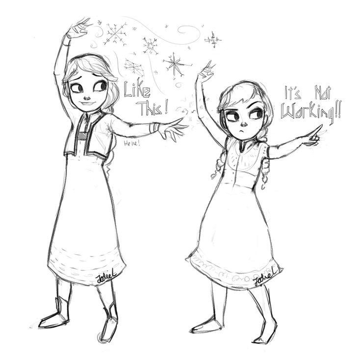 Frozen Anna And Elsa Drawing