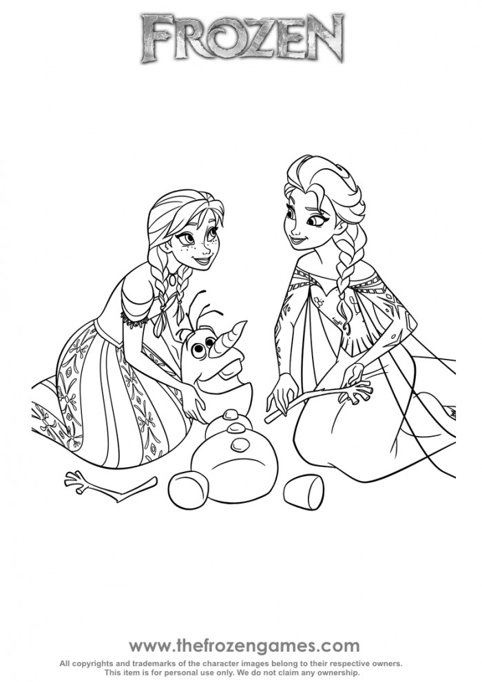 700x990 Anna And Elsa Olaf Rescue Frozen Games
