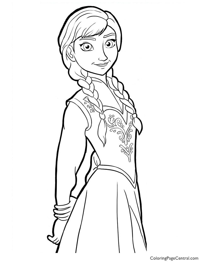 850x1100 Frozen Anna 02 Coloring Page Coloring Page Central