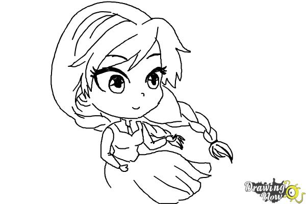600x400 How To Draw Chibi Anna From Frozen
