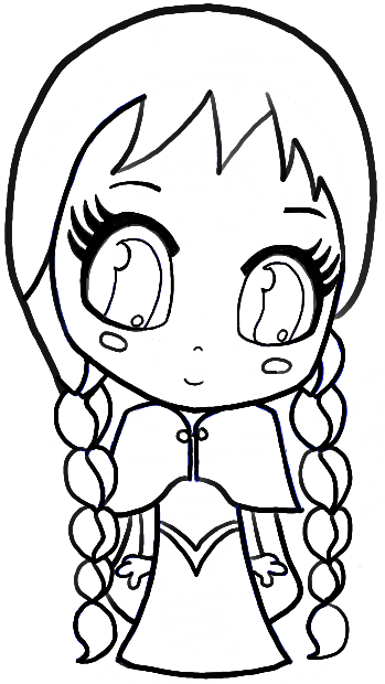 349x620 How To Draw Chibi Anna From Frozen With Easy Step By Step Tutorial