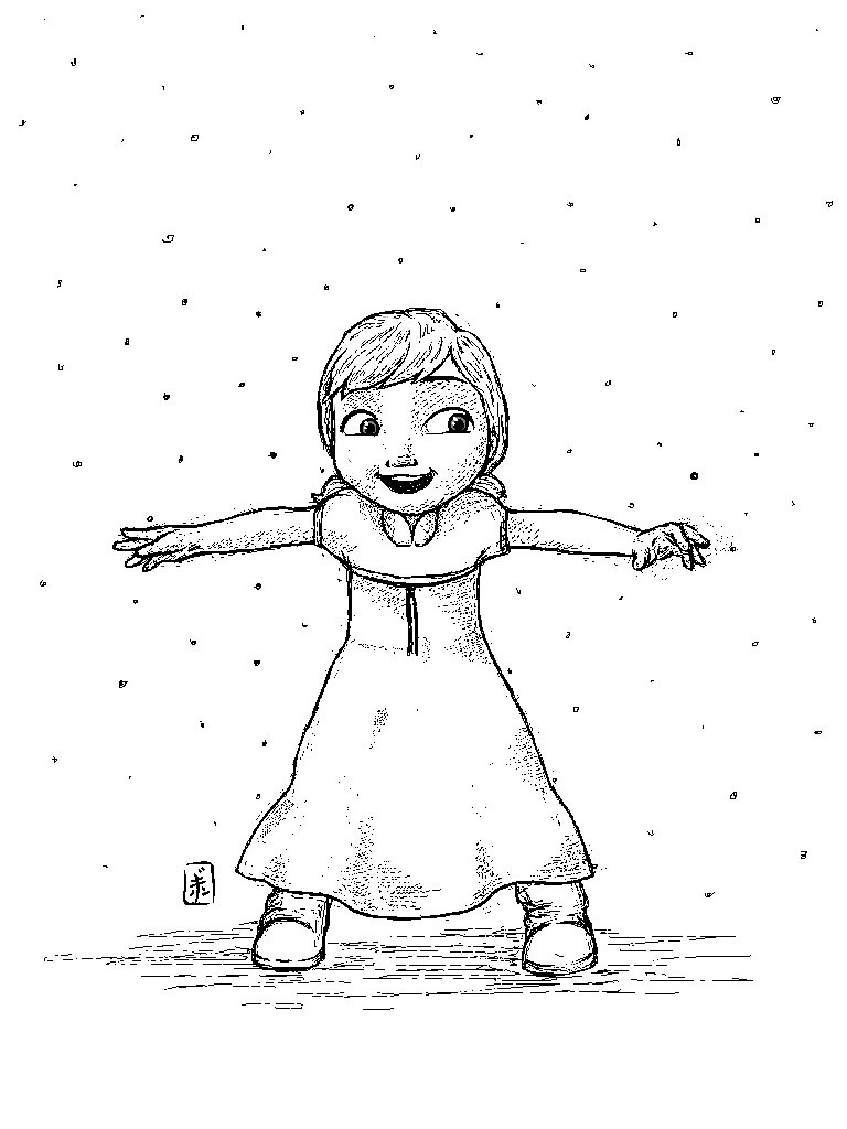 Frozen Anna Drawing at GetDrawings com | Free for personal