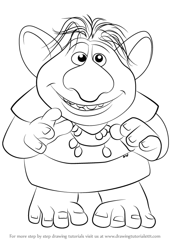 596x842 Learn How To Draw Bulda From Frozen (Frozen) Step By Step