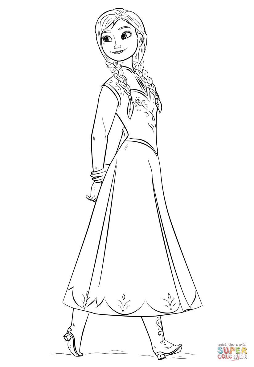 Frozen Elsa Ausmalbilder : Frozen Anna Drawing At Getdrawings Com Free For Personal Use