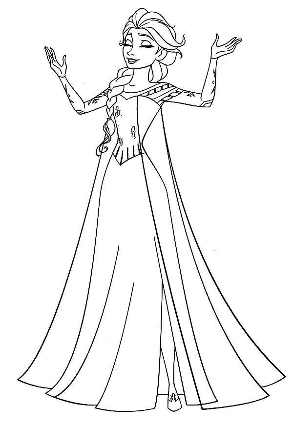 600x873 Elsa Coloring Page The Sun Flower Pages