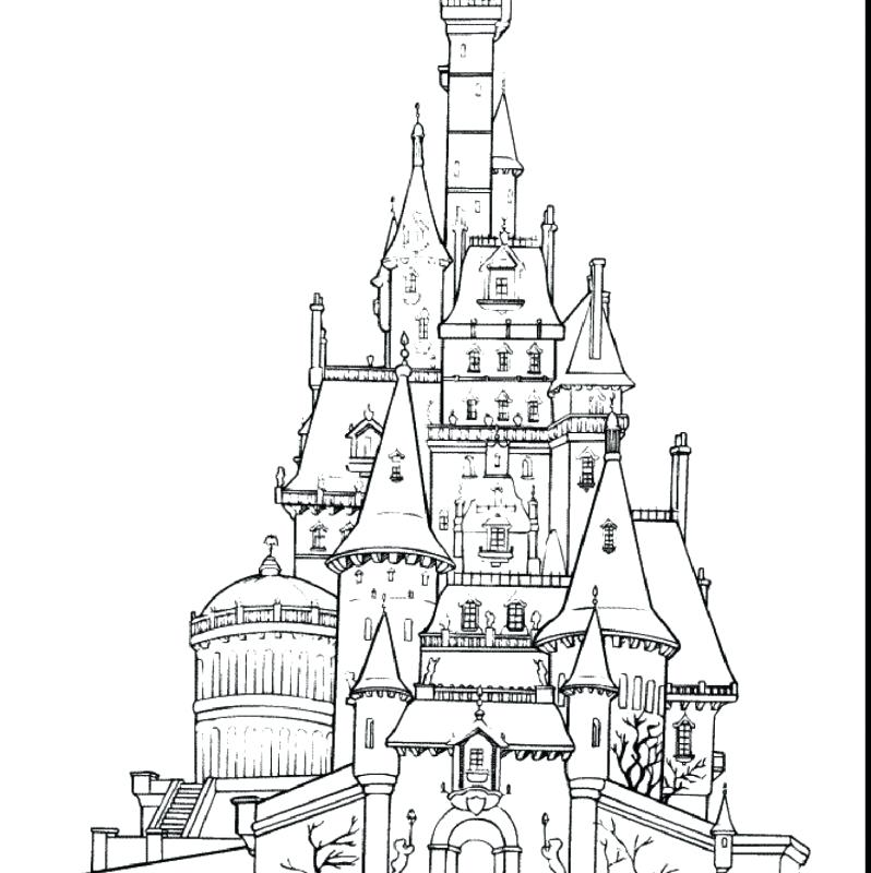 Castle Coloring Pages: Frozen Castle Drawing At GetDrawings.com