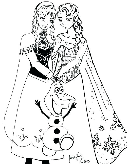 Frozen Characters Drawing at GetDrawings.com | Free for personal use ...