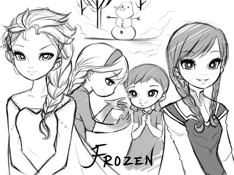 800x600 Chibi Frozen Frozen Characters Drawings Frozen Doodle By Lorsean