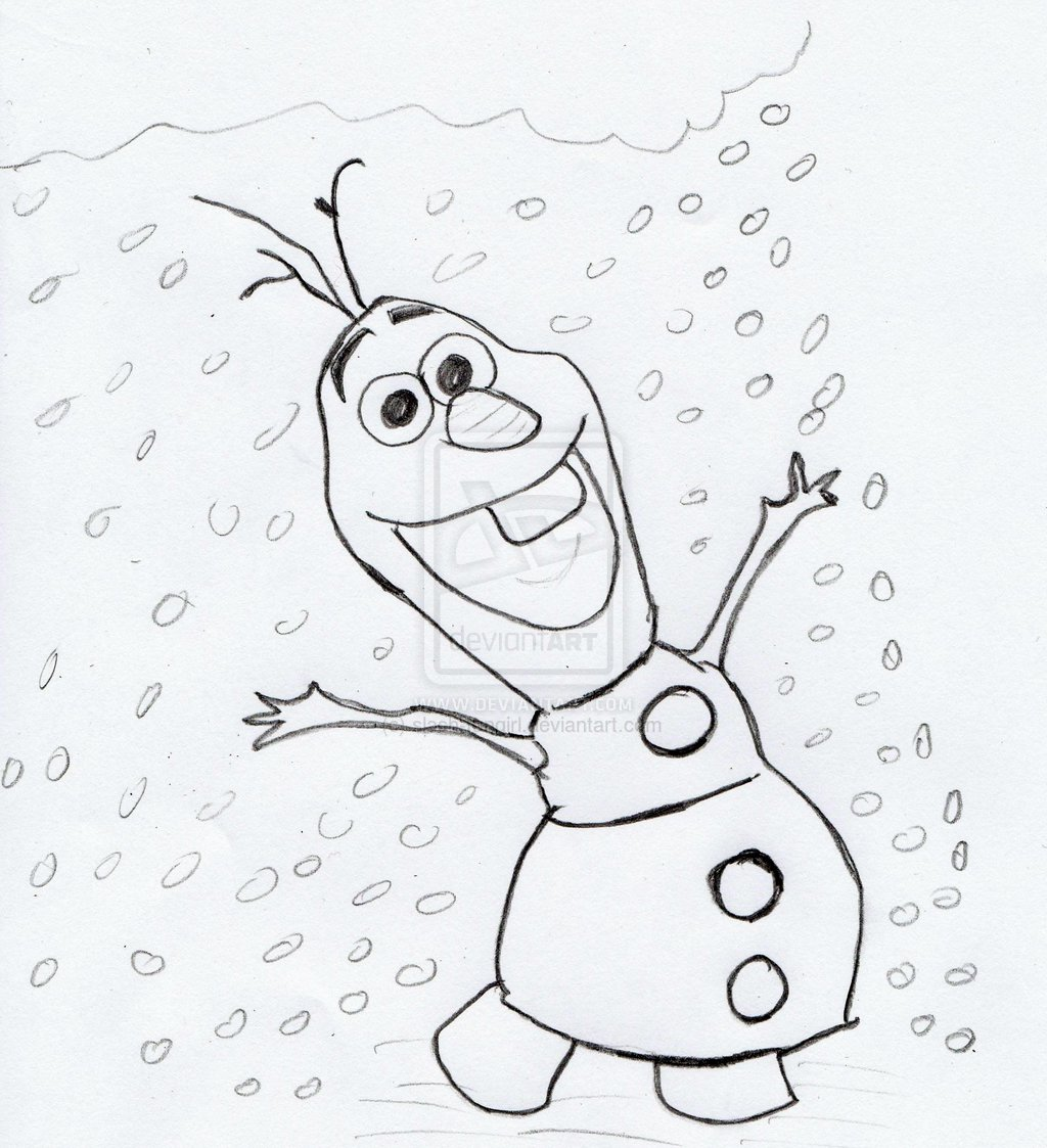 1024x1123 Best Photos Of Frozen Olaf Drawing