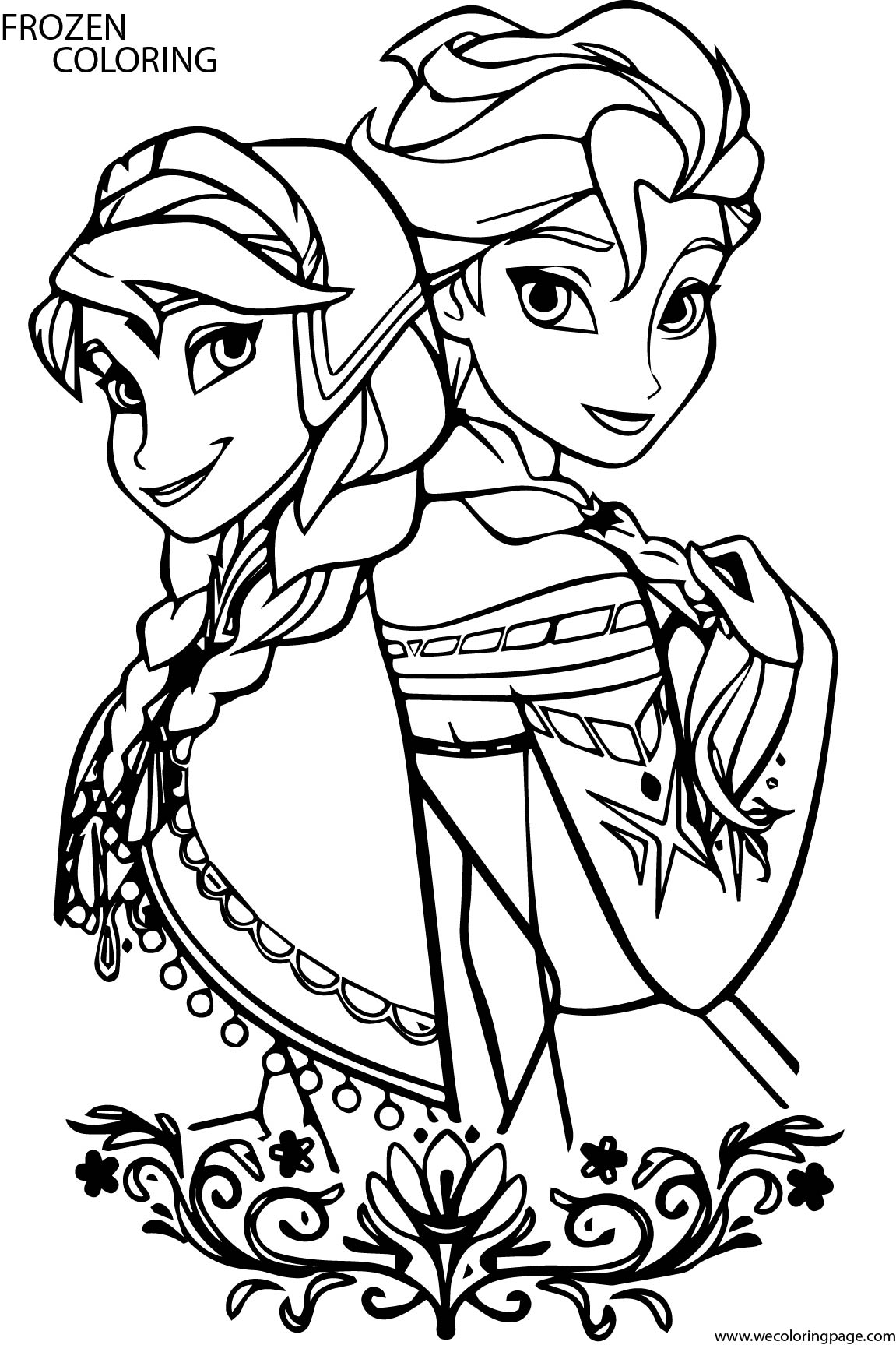 frozen cartoon characters coloring pages - photo#9