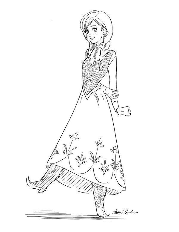 Frozen Drawing Anna