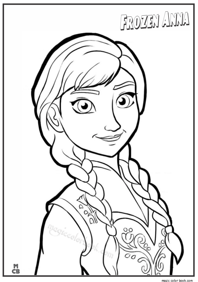 685x975 Frozen Anna Coloring Pages