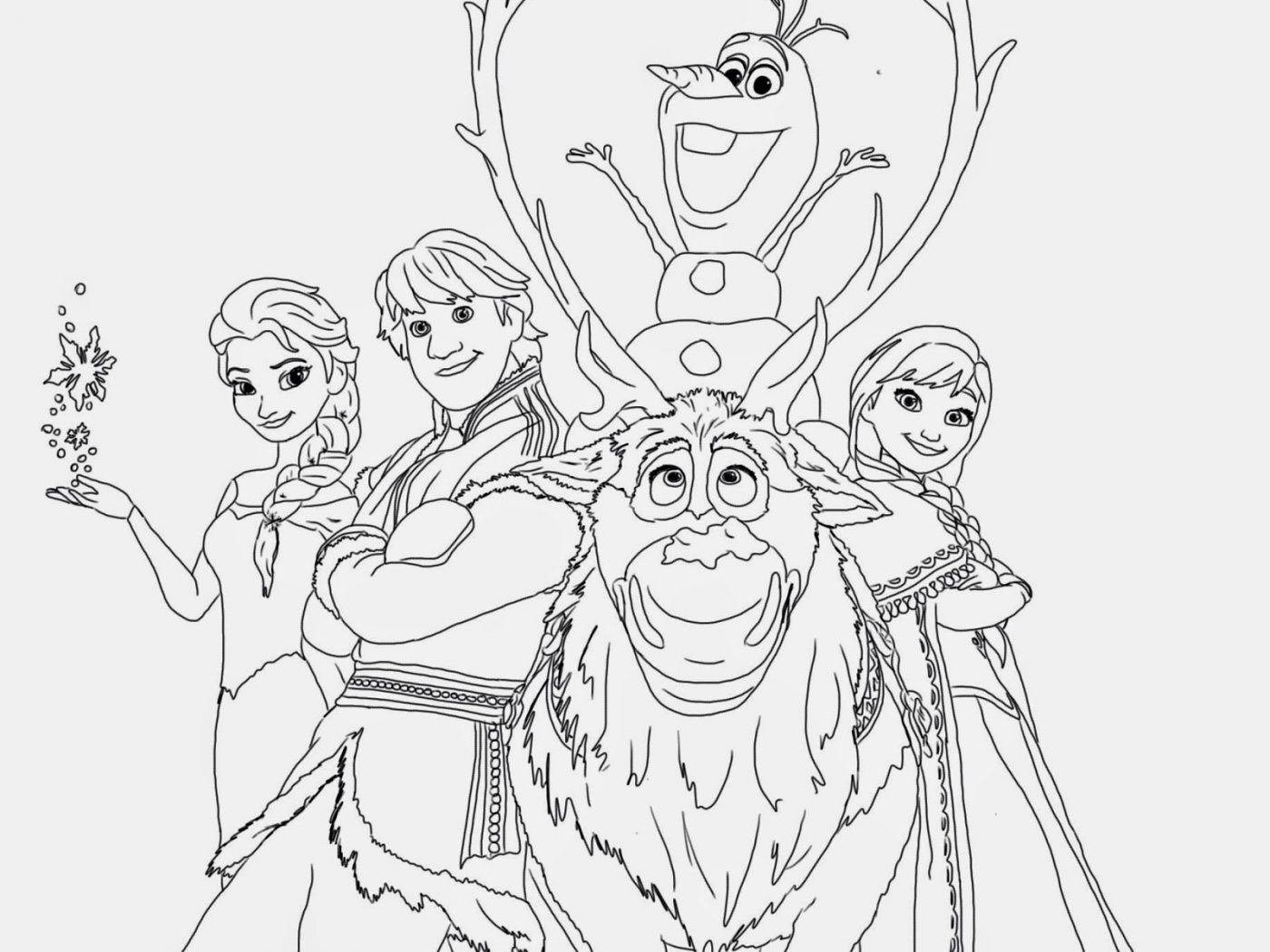 Frozen Clipart Kid Printable Coloring Page Pencil And Drawing