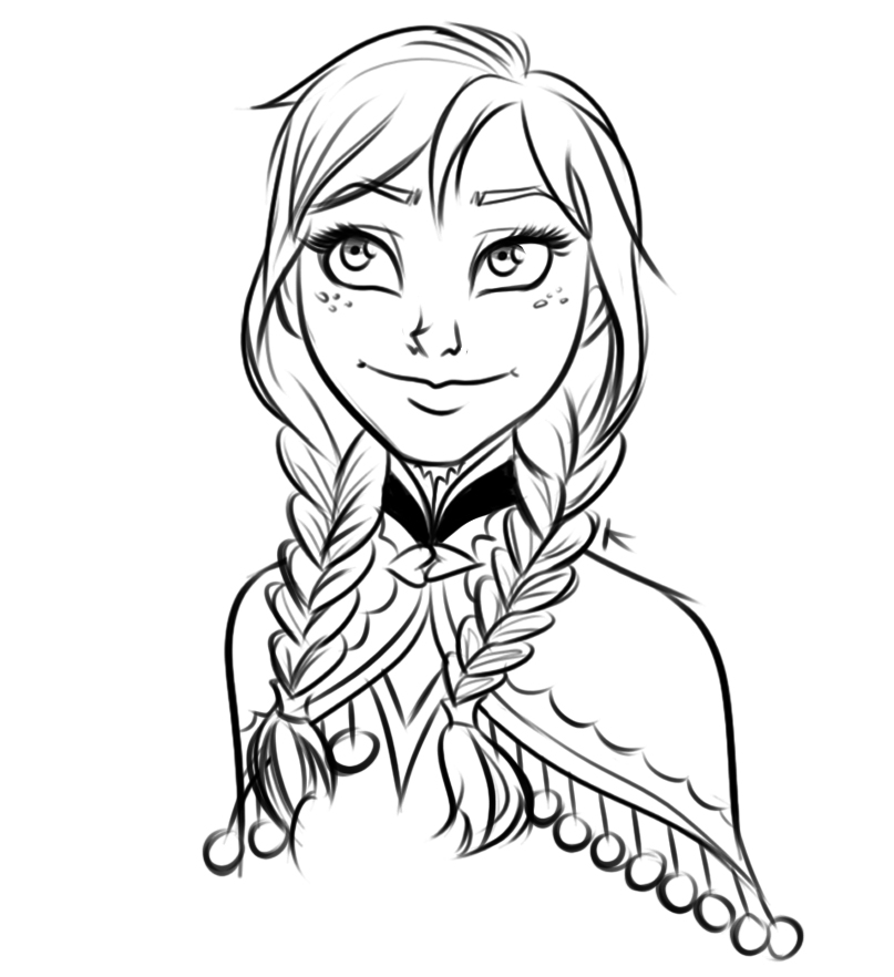 Frozen Drawing Anna at GetDrawings com | Free for personal