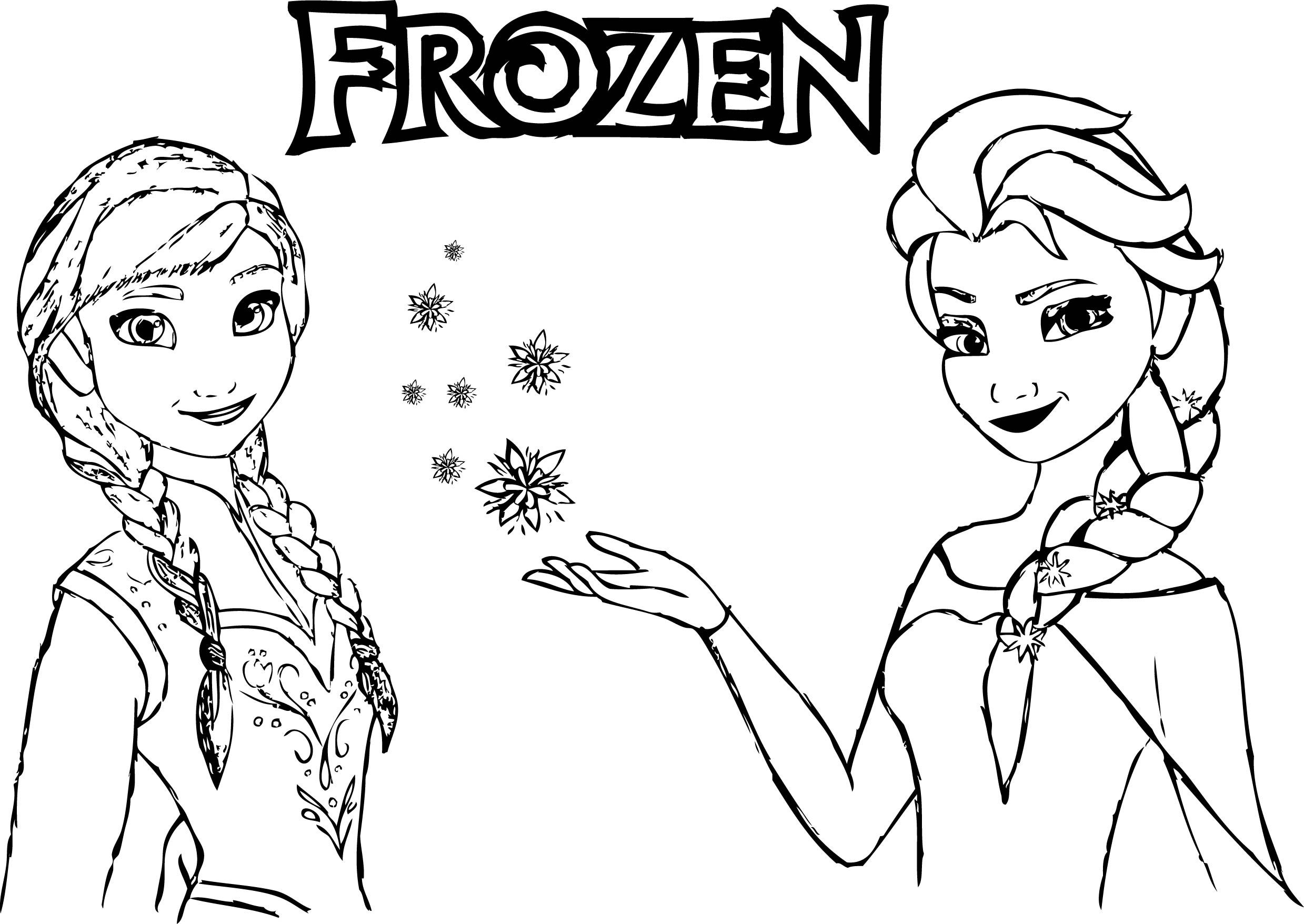 Frozen Drawing Anna And Elsa at GetDrawings | Free download