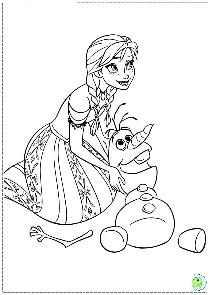 691x960 Elsa Anna Coloring Page And Coloring Pages 8 Young Elsa And Anna