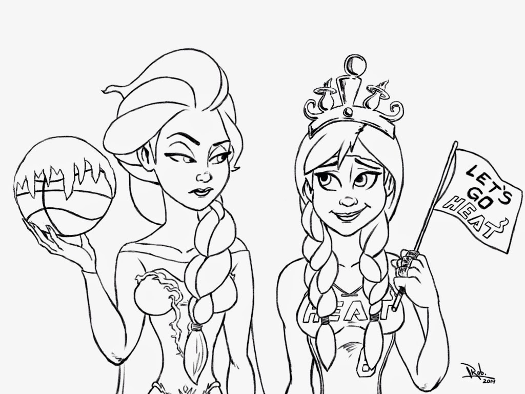 1024x768 Elsa And Anna Coloring Pages The Sun Flower