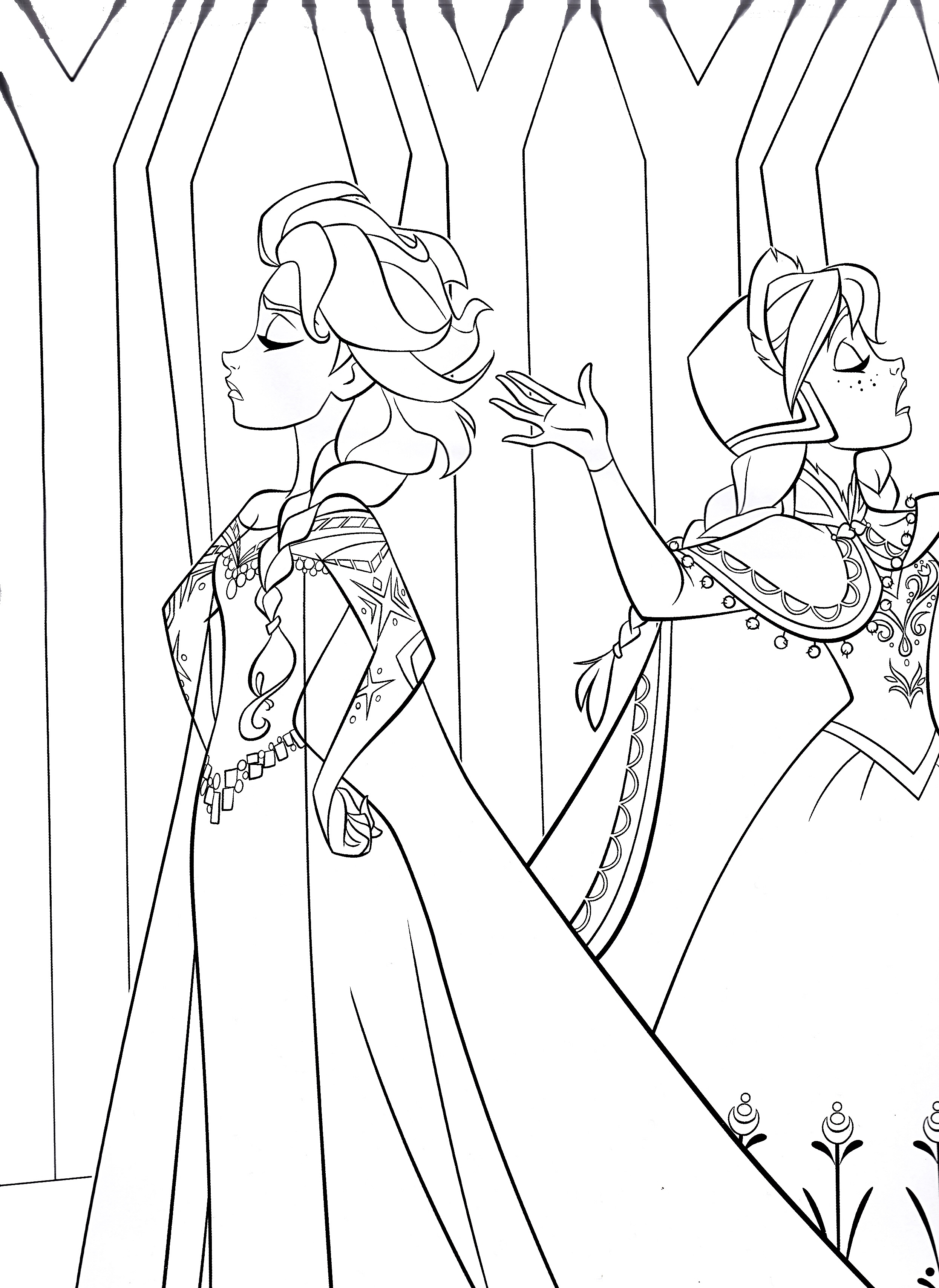 2491x3418 Free Printable Frozen Coloring Pages for Kids