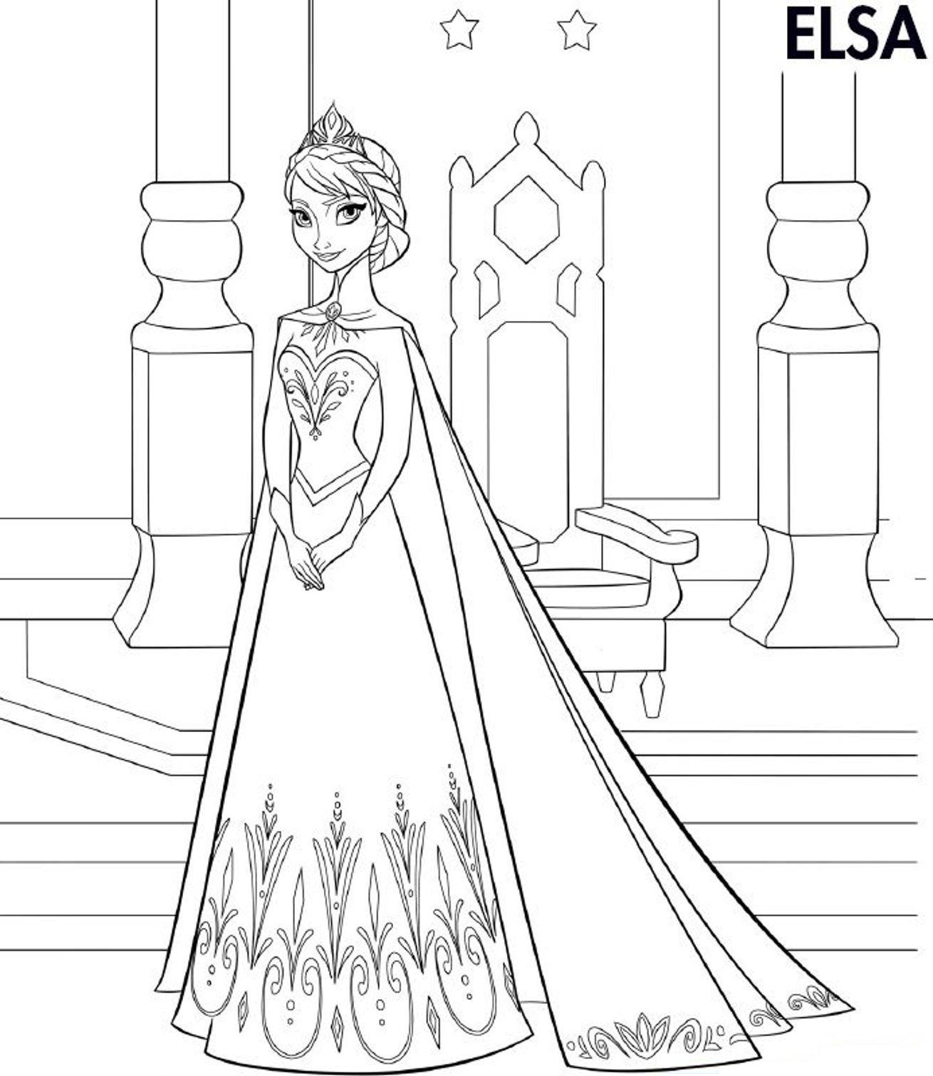 1310x1511 Elsa Frozen Coloring Page Coloring Pages for Kids Pinterest