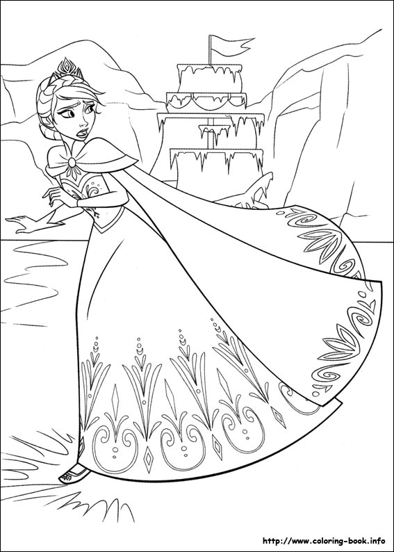 567x794 Frozen Coloring Pages On Book