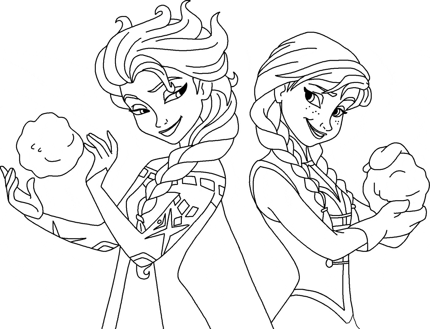 1400x1071 Frozen Elsa And Anna Coloring Page