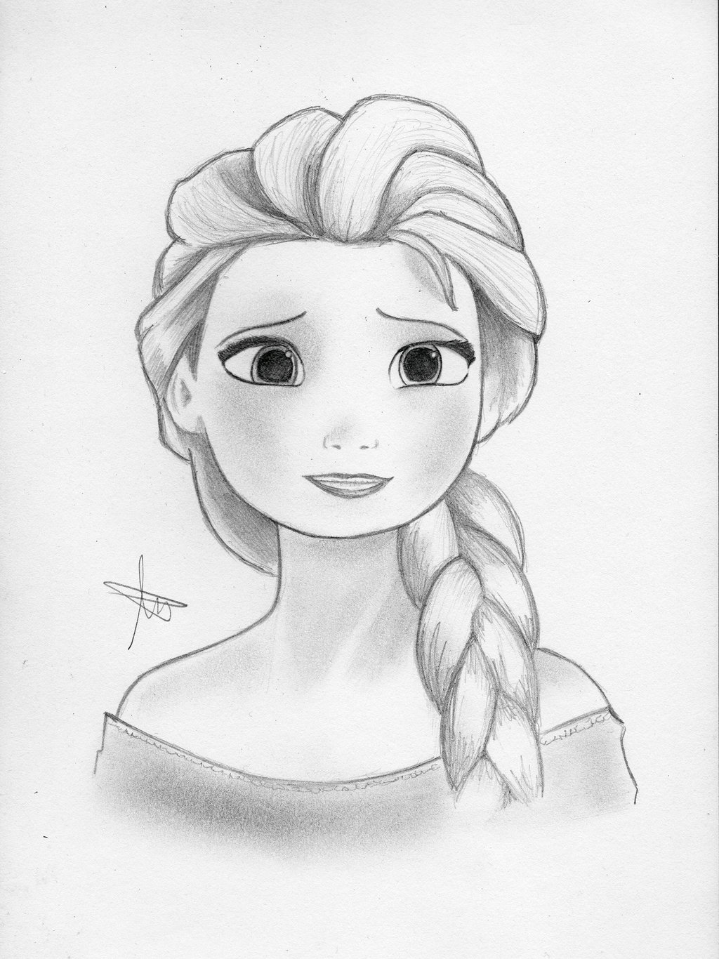 1024x1366 Best Photos Of Drawings Of Elsa From Frozen