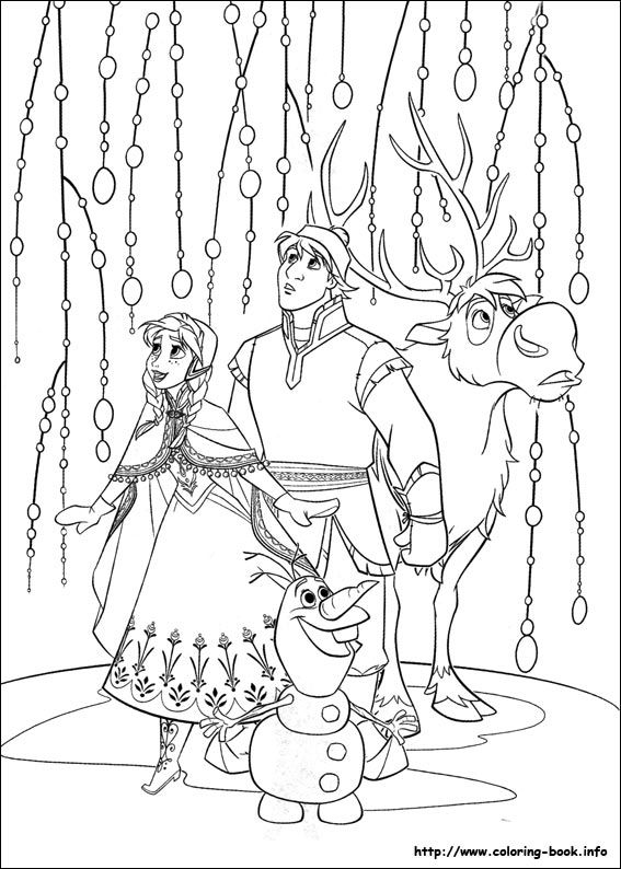 567x794 Frozen Coloring Book Pages