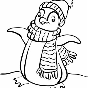 300x300 A Realistic Drawing Of Humboldt Penguin Coloring Page A Realistic