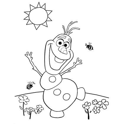 420x420 Olaf's Summer Coloring Page Disney Frozen, Olaf And Template