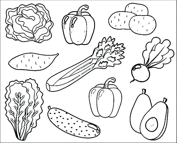 615x499 Fruit Basket Coloring Pages Fruits Coloring Pages Fruit