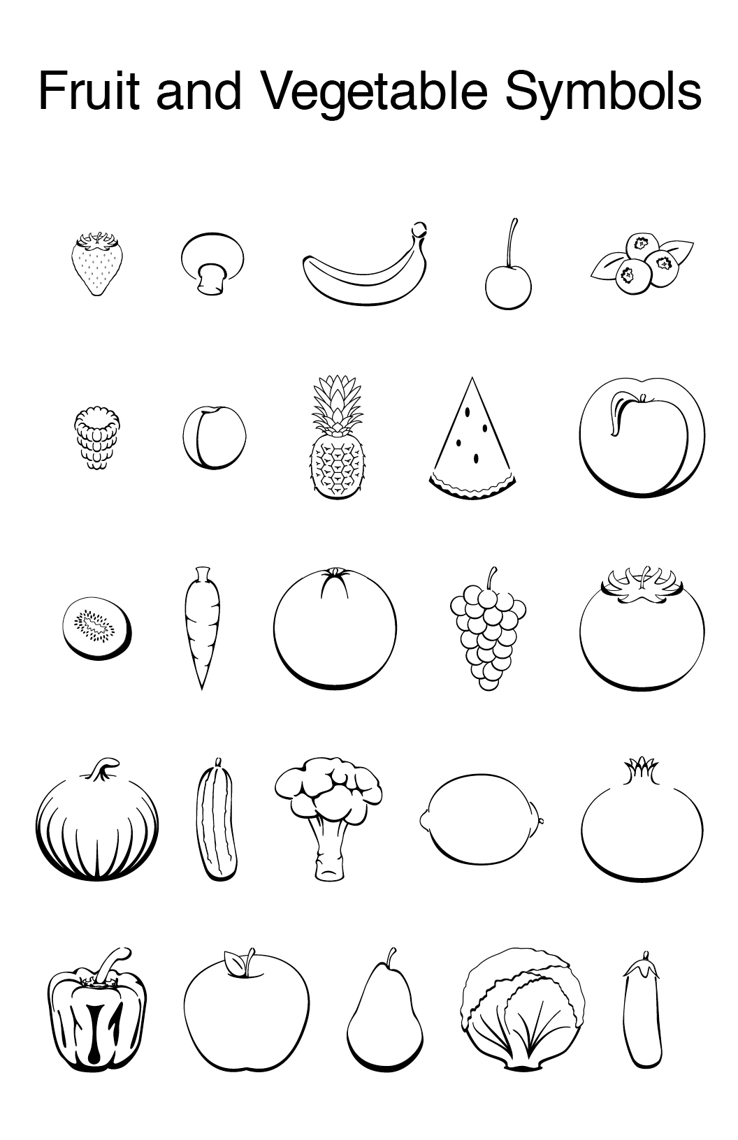 1056x1632 Fruit And Vegetable Symbols On Behance