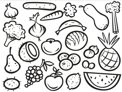 424x320 Fruit And Vegetable Coloring Pages Sweet Inspiration Printable