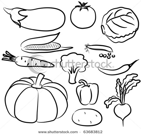 450x432 Fruits And Vegetables Clip Art Black And White Drawings Of Animals