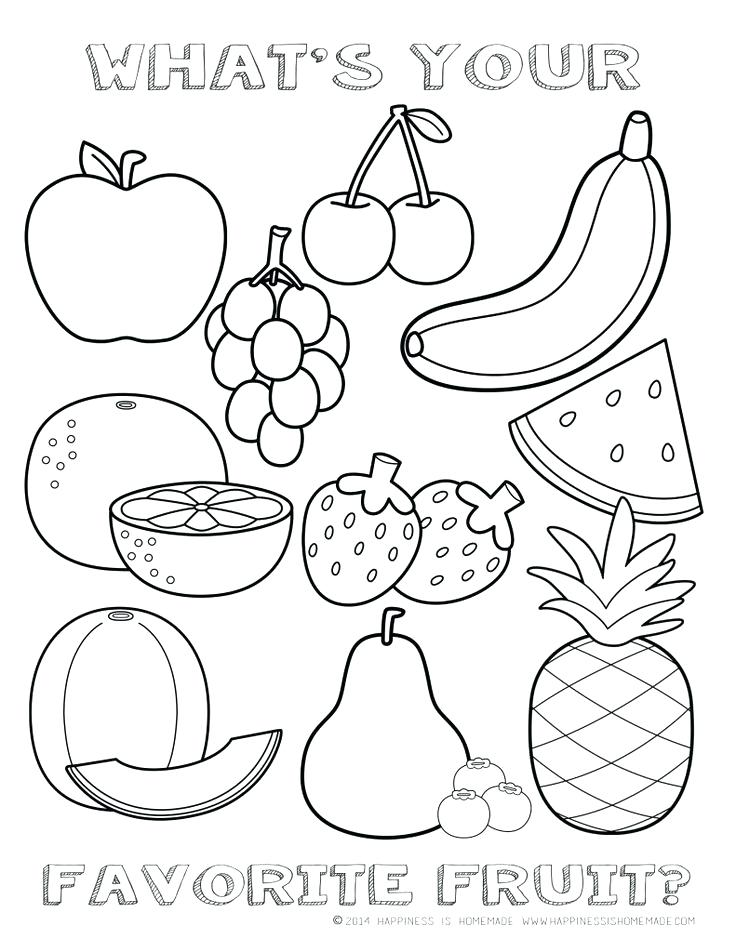 736x952 Fruits And Vegetables Coloring Pages Cartoon Fruits Coloring Pages