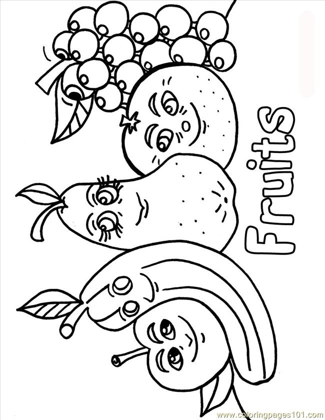 650x840 Fruits And Vegetables Coloring Pages For Kids Printable