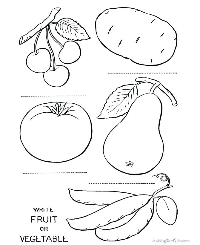 670x820 Luxury Coloring Pages Fruits And Vegetables Online Free Printable