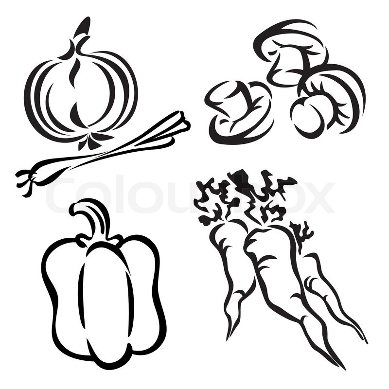 800x800 Vegetables Stock Vector Colourbox