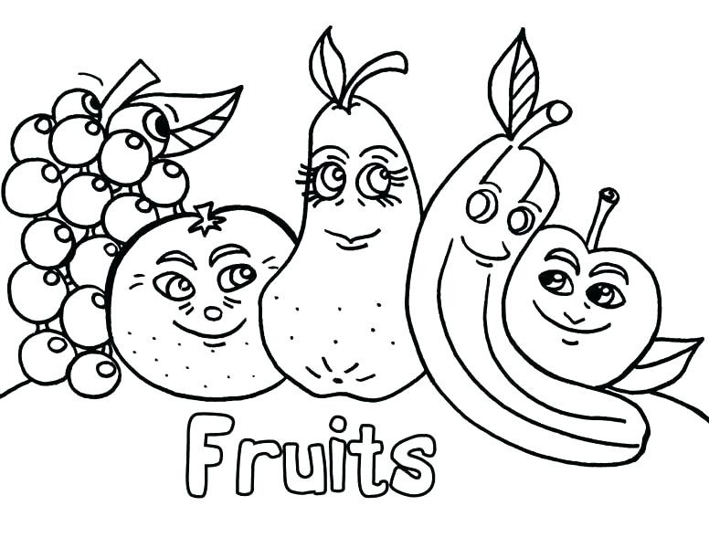 776x600 Vegetables Coloring Coloring Pages Fresh Design Fruits