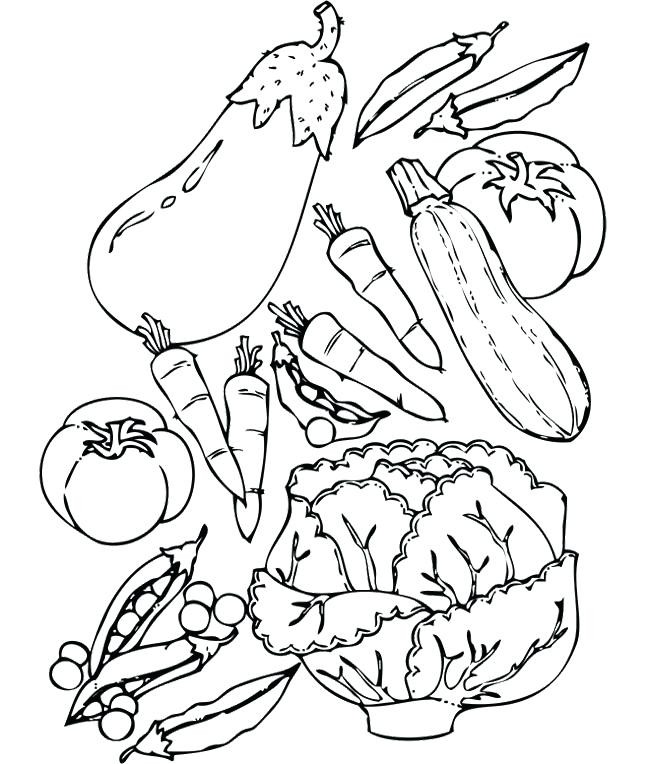 650x764 Coloring Pages Of Fruits And Vegetables Vegetable 1